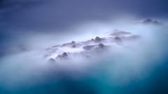 Fog, Sea  and Rocks - Point Lobos Rocks #2 (Graeme Tozer) Tags: california usa bigsur pointlobos fog rocks longexposure sea waves