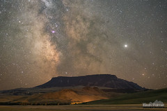 Galactic Butte (kevin-palmer) Tags: squarebutte montana september nikond750 evening nikon50mmf14afd night sky stars space astronomy astrophotography dark milkyway galaxy jupiter longexposure clear astrometrydotnet:id=nova3607010 astrometrydotnet:status=solved