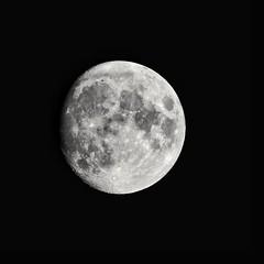 Moon 95% - Poitiers (86 - FR) (Giancarlo - Foto 4U) Tags: moon moonlight 95 lune clairdelune nikon d850 200500mm