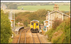 The train now departing..... (peterdouglas1) Tags: transportforwales bodorgan anglesey class150