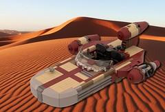 Landspeeder Instructions (FlyingWafflez) Tags: luke landspeeder lego x34 moc 3d speeder starwars studio episode4