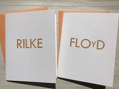 Letterpress kid stationery (artnoose) Tags: brown source paper envelopes envelope poppy floyd rilke letterpress personalized stationery autumn fall orange