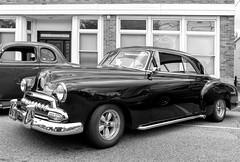 1952 Chevrolet BelAir 2 Door Hardtop (J Wells S) Tags: 1952chevroletbelair2doorhardtop chevy streetrod hotrod custom magwheels lakepipes blackandwhite monochrome bw northcollegehillheadinforthehillcarandmotorcycleshow northcollegehill cincinnati ohio