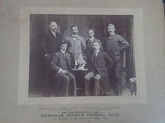 Original photograph of the Tottenham Hotspur Directors along with player Secretary John Cameron taken with the English Cup in 1901 (andrewgeorge537) Tags: tottenhamhotspur directors johncameron 1901 englishcupfinal sheffieldunited bolton replay walterbennett crystalpalace cupfinal