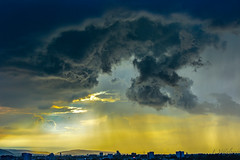 Severe weather at sunset (FVillalpando) Tags: storm clouds sky sunset light yellow weather ngysa nature