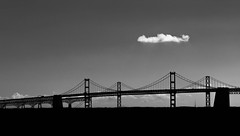Bay Bridge Maryland (cmctaggs) Tags: christopher mctaggart christophermctaggart carleton college minimal black white