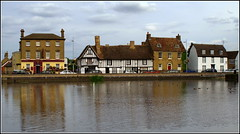 River Ouse Godmanchester (Lotsapix) Tags: cambridgeshire huntingdon godmanchester river ouse riverouse water reflections building buildings architecture pub inn tavern ale alehouse