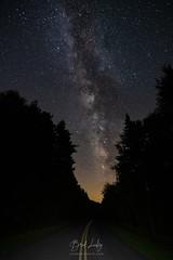Carolina Stars (Brad Lackey) Tags: milkyway stars planets galaxy astrophotography blueridgeparkway blueridgemountains asheville northcarolina wnc 828isgreat road forest trees fir spruce wideangle longexposure manfrotto tokina1116mmf28 d7200