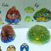 Dreidimensionale Druckerzeugnisse: Die Vögel Firbin und Kiyi aus dem color 3D Printing by FFF