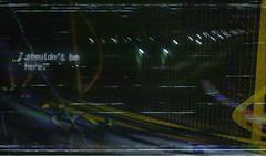 I SHOULDN'T BE HERE (PeachySick11) Tags: shouldnt be here no deberia estar aqui bridge fence valla vhs 90s nineties streetlights lights night dark vintage lofi effect montage montaje video anxiety edgy depression depressing depressed ansiedad depresion sad
