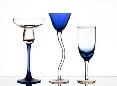 3 Amigos (Karen_Chappell) Tags: three 3 white blue glass glasses stilllife product stemware glassware shapes curves colour color