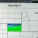 Fußballspiel auf einem Super Big TV QLED 75 Zoll von Samsung