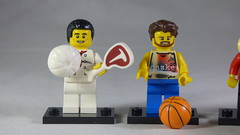 Brick Yourself Custom Lego Minifigures - Chef with Steak & Basketballer