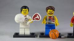 Brick Yourself Custom Lego Minifigures - Chef with Steak & Basketballer