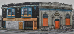 The Colorful West End (Explore) (lloydboy52) Tags: thecolorfulwestend colorful westend delray neighborhood detroit michigan hungarianenclave abandoned bank bar apartment dilapidated rundown urbanexploration urbex architecture building drivebypanorama panorama decay beautyindecay