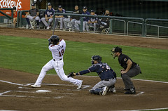 Home Run Swing (dcnelson1898) Tags: westsacramento california yolocounty sacramentorivercats renoaces aaabaseball minorleaguebaseball sanfranciscogiants arizonadiamondbacks sports baseball nightgame raleyfield