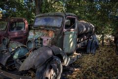 Worn (HTT) (13skies) Tags: happytruckthursday truck hdr highdynamicrange canont3i scotlandon tanker old relic gone haul rusted light htt photomatix