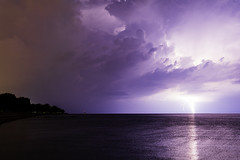 11 of 17 (aerojad) Tags: eos canon 80d dslr 2019 summer outdoors september chicago city urban landscape lakescape lakemichigan longexposure thunderstorm storm lightning lightningphotography clouds weather fosterbeach nature