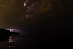 3 of 17 (aerojad) Tags: eos canon 80d dslr 2019 summer outdoors september chicago city urban landscape lakescape lakemichigan longexposure thunderstorm storm lightning lightningphotography clouds weather fosterbeach nature