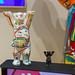 Souvenirs aus Berlin:  Buddy Bär bemalt mit dem U-Bahn Netz Tiergarten