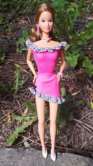 Barbie Easy Living Fashion #772 (pink) from 1990 (VintageZealot) Tags: barbie mattel easy living 772 1990 1990s 90s heart family mom mother surprise party 2381 2383 1985 1980s 80s vintage retro fashion doll clothing clothes outfit model modelling caucasian brunette jazzie starr taiwan velcro dress ruffle stripe pink black white hot jewelry bracelet ring rose wedding rings gold earrings earring hoop necklace cocktail evening dinner date 1989 9170 pretty changes 1978 1970s 70s 2598 soft pale pastel pumps bow ribbon