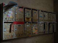 mailbox of apartment (kasa51) Tags: mailbox apartment old rusty yokohama japan 郵便受け アパート