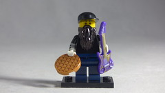 Brick Yourself Custom Lego Minifigure - Guitarist with Waffle