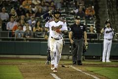 Taking First (dcnelson1898) Tags: westsacramento california yolocounty sacramentorivercats renoaces aaabaseball minorleaguebaseball sanfranciscogiants arizonadiamondbacks sports baseball nightgame raleyfield