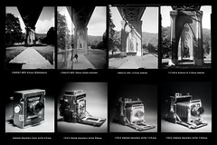 St. Johns Bridge 4x5 Lens and Film Comparison (jimhairphoto) Tags: stjohns bridge test comparison streetlife streetstories théâtrederue portland oregon america pdx portlandnw remainsoftheday naturalworld 4x5project 1953 speedgraphic crown graphic camera mfg1963 4x5 atomicx ilford fp4 hp5 film blackandwhite blancetnoir schwarzweiss blancoynegro blancinegre siyahrebeyaz jimhairphoto