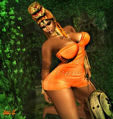 ⤖ĿØTÐ 21⬻ Welcome to the jungle (Savanha Portal) Tags: secondlife second life pulse savanha hairs hair nails firestorm orange woman sexy rings xx xxx maitreya fashions fashion revoul skin shape mesh bag sarrings turban bimbo events event pose genus body blog poses hands necklace