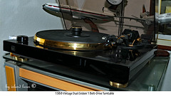 Dual Golden Turntable (Island Lures) Tags: dual beltdrive turntable golden1