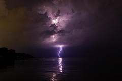 10 of 17 (aerojad) Tags: eos canon 80d dslr 2019 summer outdoors september chicago city urban landscape lakescape lakemichigan longexposure thunderstorm storm lightning lightningphotography clouds weather fosterbeach nature