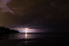 8 of 17 (aerojad) Tags: eos canon 80d dslr 2019 summer outdoors september chicago city urban landscape lakescape lakemichigan longexposure thunderstorm storm lightning lightningphotography clouds weather fosterbeach nature