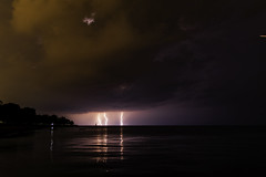 1 of 17 (aerojad) Tags: eos canon 80d dslr 2019 summer outdoors september chicago city urban landscape lakescape lakemichigan longexposure thunderstorm storm lightning lightningphotography clouds weather fosterbeach nature