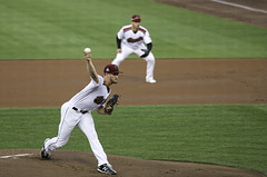 The Pitch (dcnelson1898) Tags: westsacramento california yolocounty sacramentorivercats renoaces aaabaseball minorleaguebaseball sanfranciscogiants arizonadiamondbacks sports baseball nightgame raleyfield
