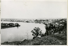 View of Kangaroo Point and Brisbane from Bowen Tce 1868