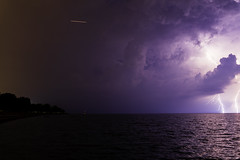 12 of 17 (aerojad) Tags: eos canon 80d dslr 2019 summer outdoors september chicago city urban landscape lakescape lakemichigan longexposure thunderstorm storm lightning lightningphotography clouds weather fosterbeach nature