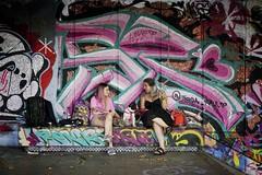 What Dog? (garryknight) Tags: creativecommonsattribution40 sony a6000 on1photoraw2018 london creativecommons ccby40 street woman girl teenager dog animal streetart graffiti