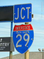 Jct. I-29 Sign in South Dakota, 13 July 2019 (photography.by.ROEVER) Tags: minnesota 2019 july july2019 vacation roadtrip 2019vacation 2019roadtrip minnesota2019roadtrip minnesota2019vacation drive driving driver driverpic ontheroad road highway southdakota watertown sign shield shieldsign jct junction i29 interstate29 interstate freeway interstatesign interstateshieldsign stateinsideinterstateshieldsign afternoon codingtoncounty us212 ushighway212 highway212 usa