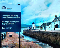 Scotland Central Highlands Corpach the sea loch entrance to the Caledonian Canal 30 June 2019 by Anne MacKay (Anne MacKay images of interest & wonder) Tags: scotland central highlands corpach sea loch entrance caledonian canal building house sign 30 june 2019 picture by anne mackay