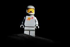 LEGO Grey Spaceman (weeLEGOman) Tags: lego classic space spaceman spaceship minifigure 1980s 80s vintage black background toy macro photography uk nikon d7100 105mm robert rob trevissmith weelegoman grey gray
