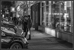 Meeting (Алекс Че) Tags: blackwhite night bw street 2470 z6 nikon сity meeting