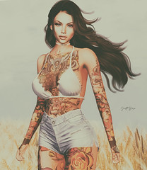 ᶜᵒⁿᶠⁱᵈᵉⁿᵗˡʸ ˡᵒˢᵗ.... (scarlettrose.karsin) Tags: secondlife sl speakeasy tattoo bodyart bodyink blueberry doux amitieposes genusproject legacy