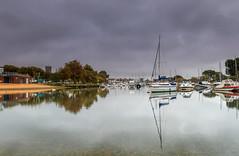 Stour Reflections (nicklucas2) Tags: seascape christchurch quay priory dorset cloud reflection river stour boat swan bird
