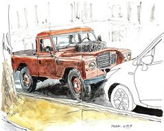Land-Rover (sylvain.cnudde) Tags: landrover car voiture vehicule croquis sketch usk urbansketch watercolor aquarelle 4x4