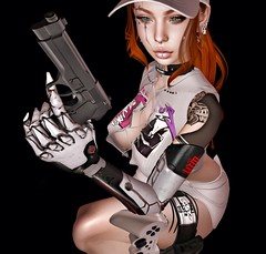 lock the target (Khaos Republic) Tags: alone android skinnery gun scar tmp legacy doux euphoric bento applier dangerous redhead gamer seul vagrant spoiled genus