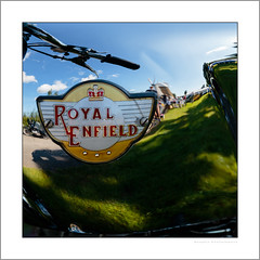 Royal Enfield at Heage Windmill (G. Postlethwaite esq.) Tags: dof derbyshire heagewindmill royalenfield unlimitedphotos bokeh classicbikes depth motorbike motorcycle photoborder refection selectivefocus