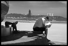 Relaxation (FimRay) Tags: blackandwhite bw monotone monochrome street streetphotography traditionalstreet people relaxing beach thailand southeastasia leica m240 75mmf25 voigtlander heliar