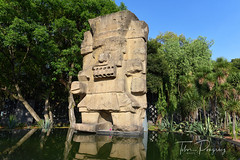 Mexico City - statue of Tlaloc, the God of Rain (Tibor Pongracz) Tags: red museum maya mexico mexicocity antropology tlaloc godofrain