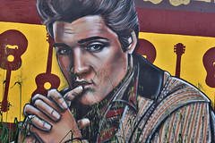 The King (ewgqlbhd11) Tags: elvis icon king music legend love face deej angove northperth streetscape art real streetart ponder bluesuedeshoes